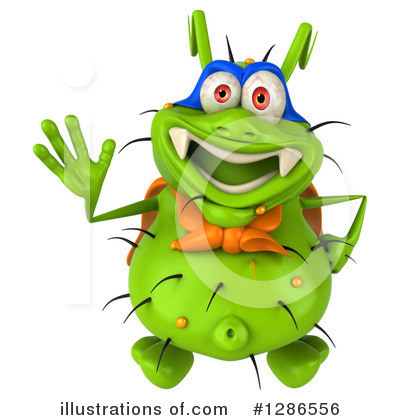 Green Virus Clipart #1286556 by Julos