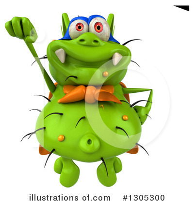 Green Germ Clipart #1305300 by Julos
