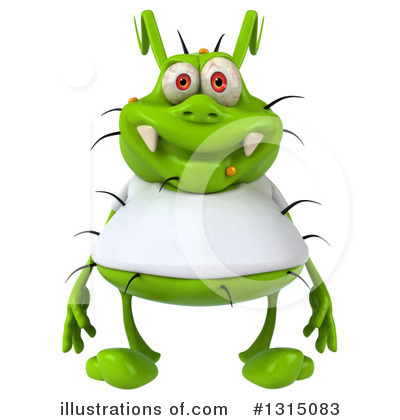 Green Virus Clipart #1315083 by Julos