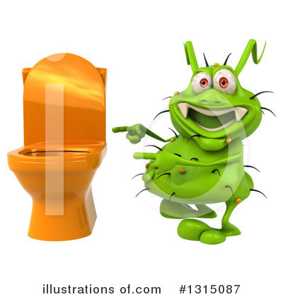 Green Virus Clipart #1315087 by Julos