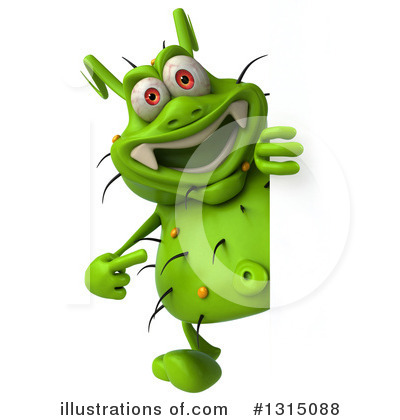 Green Virus Clipart #1315088 by Julos