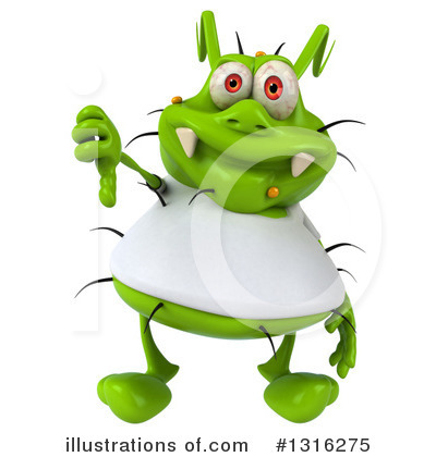 Green Germ Clipart #1316275 by Julos