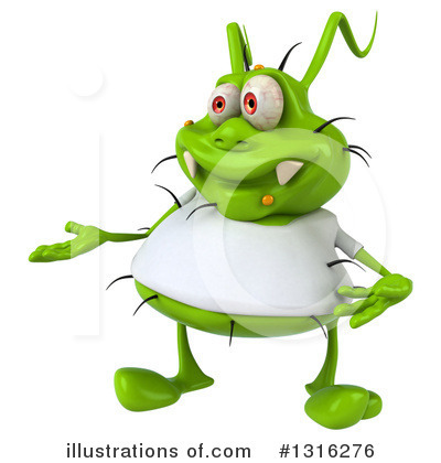 Royalty-Free (RF) Green Germ Clipart Illustration by Julos - Stock Sample #1316276