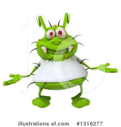 Green Virus Clipart #1316277 by Julos