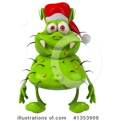 Green Virus Clipart #1353909 by Julos