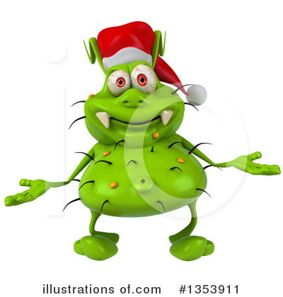 Green Virus Clipart #1353911 by Julos