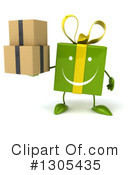 Green Gift Character Clipart #1305435 by Julos