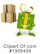 Green Gift Character Clipart #1305436 by Julos