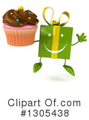 Green Gift Character Clipart #1305438 by Julos