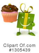 Green Gift Character Clipart #1305439 by Julos