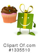 Green Gift Character Clipart #1335510 by Julos