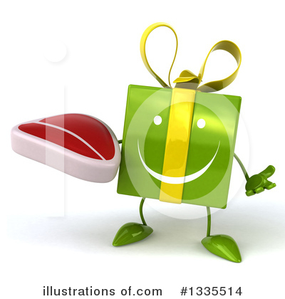 Green Gift Character Clipart #1335514 by Julos