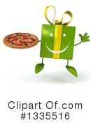 Green Gift Character Clipart #1335516 by Julos