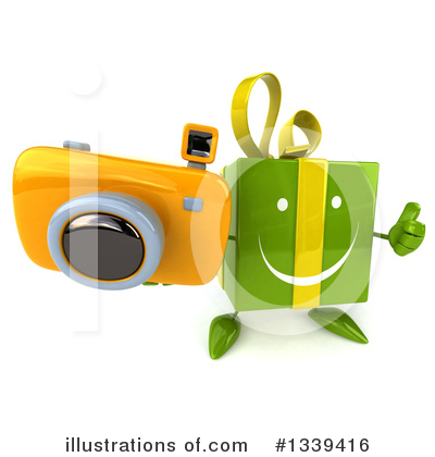 Green Gift Character Clipart #1339416 by Julos