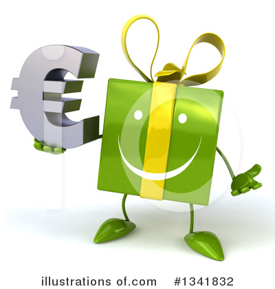 Green Gift Character Clipart #1341832 by Julos