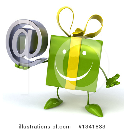 Green Gift Character Clipart #1341833 by Julos