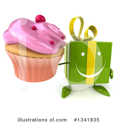 Green Gift Character Clipart #1341835 by Julos