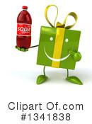 Green Gift Character Clipart #1341838
