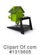 Green Home Clipart #1319605 by Julos