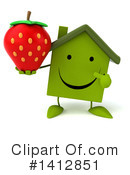 Green Home Clipart #1412851 by Julos