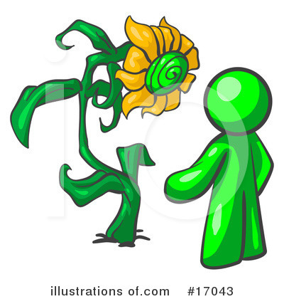 Green Man Clipart #17043 by Leo Blanchette