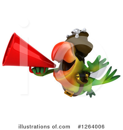 Royalty-Free (RF) Green Parrot Clipart Illustration by Julos - Stock Sample #1264006