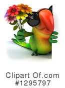 Green Parrot Clipart #1295797 by Julos