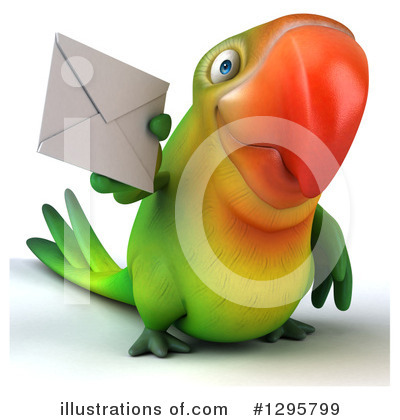 Green Parrot Clipart #1295799 by Julos