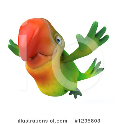 Green Parrot Clipart #1295803 by Julos