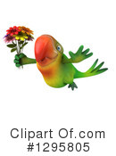 Green Parrot Clipart #1295805 by Julos