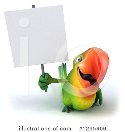 Green Parrot Clipart #1295806 by Julos