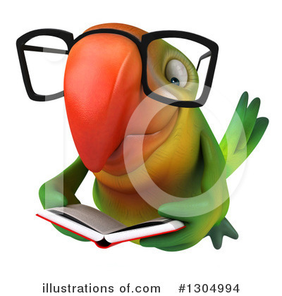 Green Parrot Clipart #1304994 by Julos