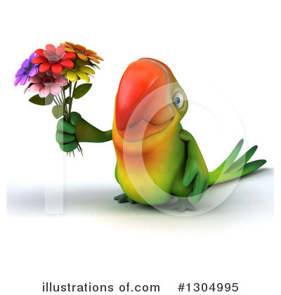 Green Parrot Clipart #1304995 by Julos