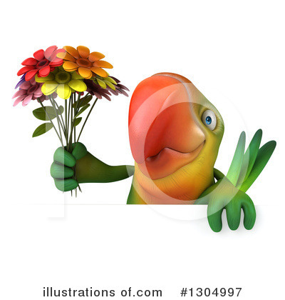 Green Parrot Clipart #1304997 by Julos
