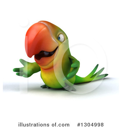Green Parrot Clipart #1304998 by Julos