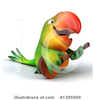 Green Parrot Clipart #1305000 by Julos