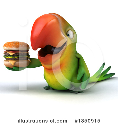 Green Parrot Clipart #1350915 by Julos