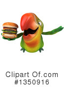 Green Parrot Clipart #1350916 by Julos