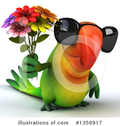 Green Parrot Clipart #1350917 by Julos
