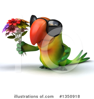 Green Parrot Clipart #1350918 by Julos