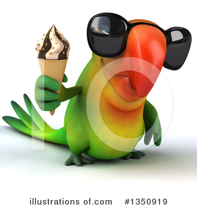 Green Parrot Clipart #1350919 by Julos