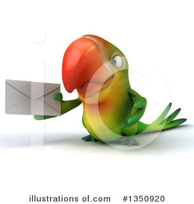 Green Parrot Clipart #1350920 by Julos