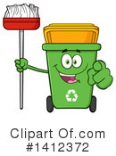Green Recycle Bin Clipart #1412372 by Hit Toon