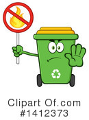 Green Recycle Bin Clipart #1412373 by Hit Toon