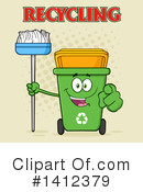 Green Recycle Bin Clipart #1412379 by Hit Toon