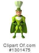 Green Super Hero Chef Clipart #1301475 by Julos