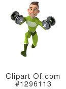 Green Super Hero Clipart #1296113 by Julos