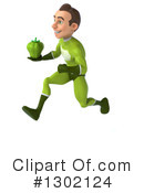 Green Super Hero Clipart #1302124 by Julos