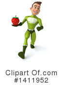 Green Super Hero Clipart #1411952 by Julos