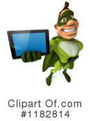 Royalty-Free (RF) Green Superhero Clipart Illustration #1182814